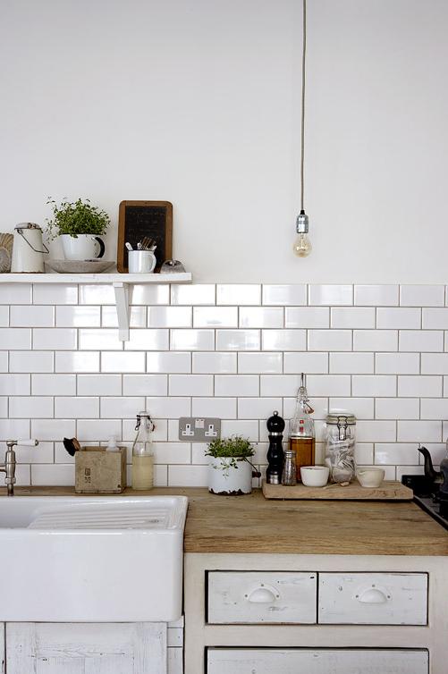 The Kitchen  Black & White Colors