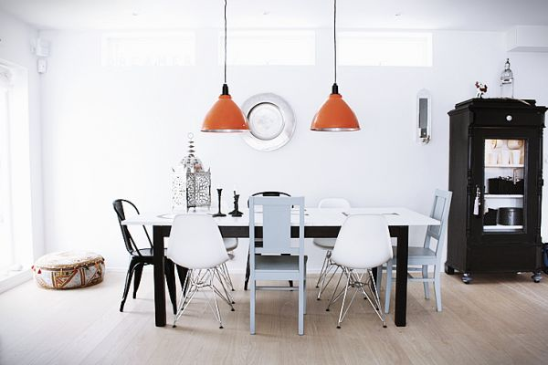 Bright-Dining-Room-with-Black-and-White-Dining-Set