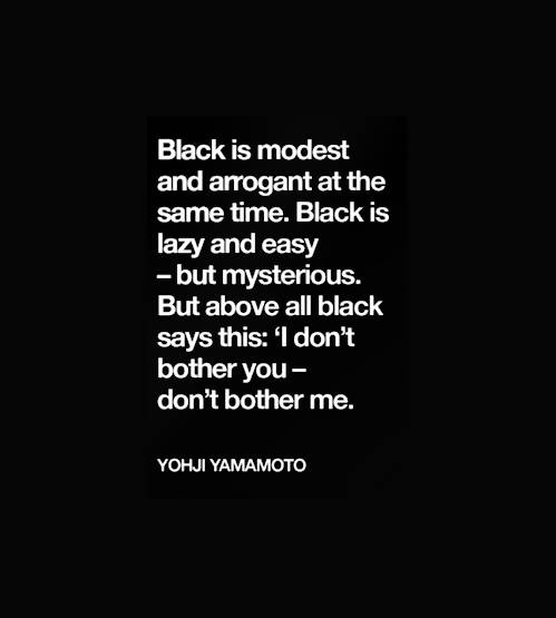 Black-is-modest-and-arrogant-at-the-same-time
